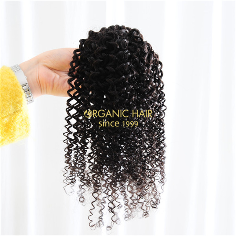 16inch afro kinky weft afro hair weave in hair