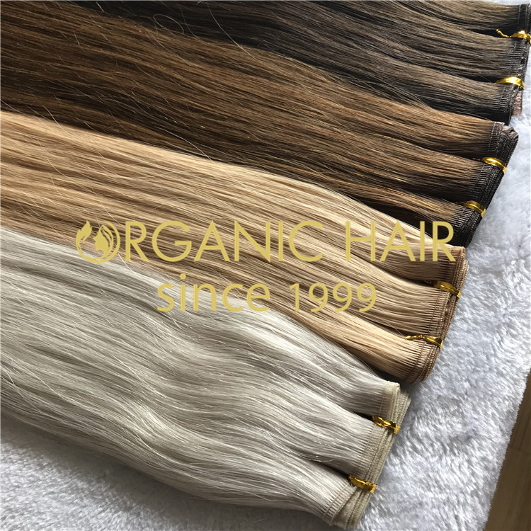 New weft Hybrid wefts hair extensions H168