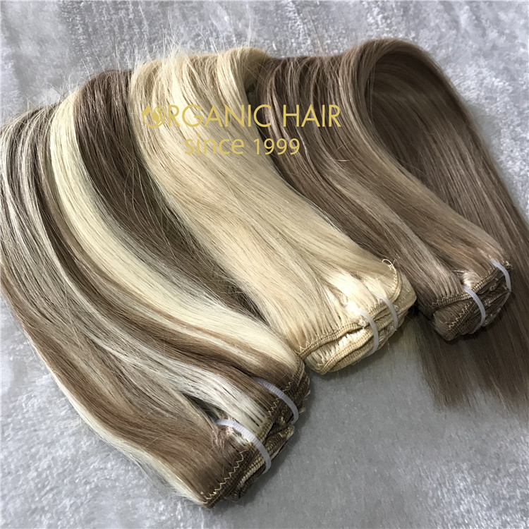 Best quality clip in human hair extensions C39