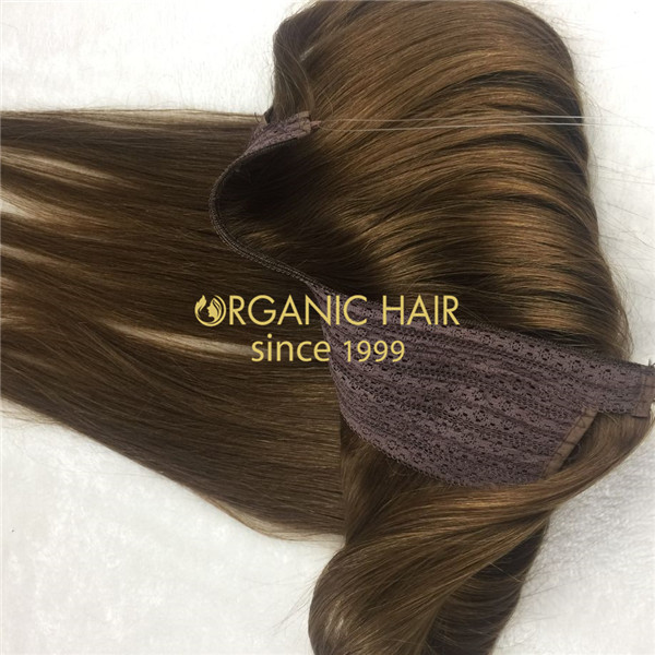 Wholesale human remy halo hair extensions X12