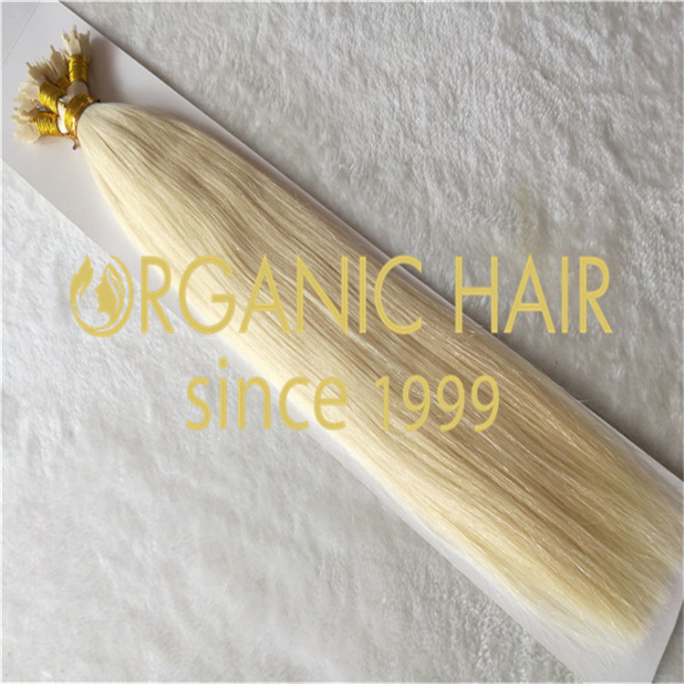Wholesale blonded flat tip hair extensions,1g/strands,100g/package A31