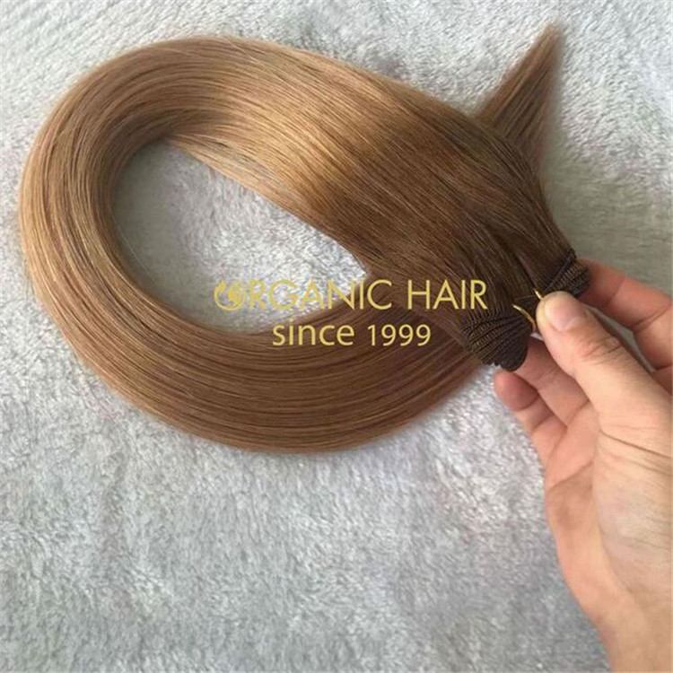 Customized 22inch T#4/#8 remy cuticle hand-tied weft A152