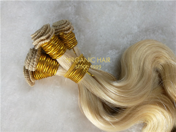 Wholesale hand tied weft #22 soft wave X15
