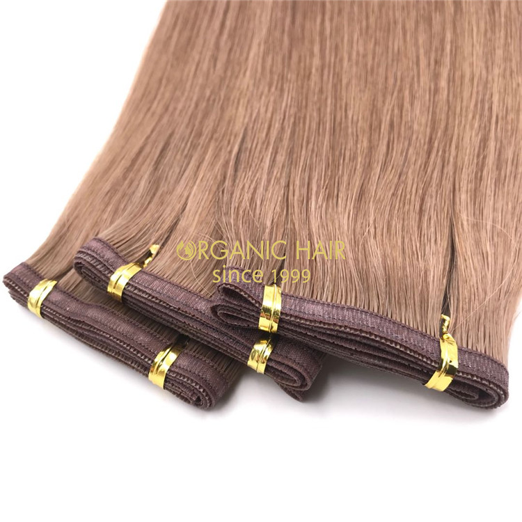 Wholesale human flat wefts hair extensions and good reviews X292