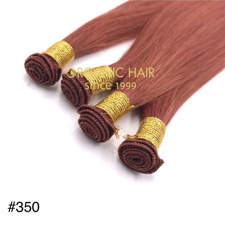 Wholesale high quality 350color hand tied weft extension for utah hair salon X353
