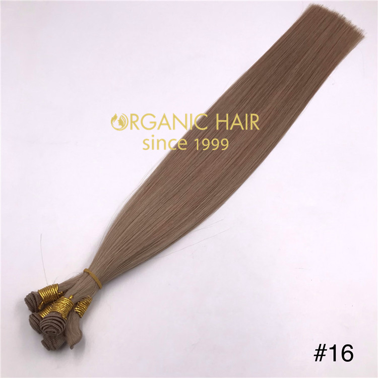 Wholesale human hand tied wefts #16A Color and good reviews X352