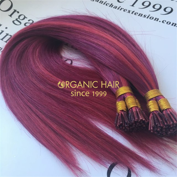 Wholesale human piano color keratin itip hair extensions X322