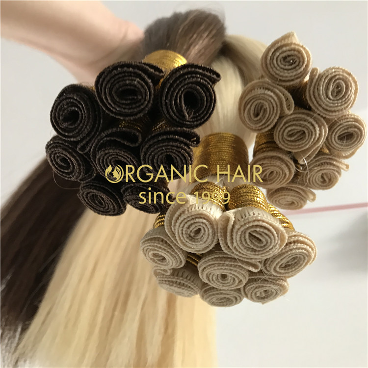 Wholesale human hand tied wefts on sale X297