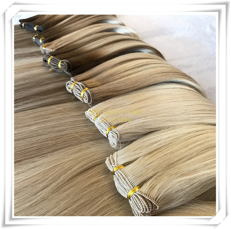 Wholesale natural beaded wefts C074