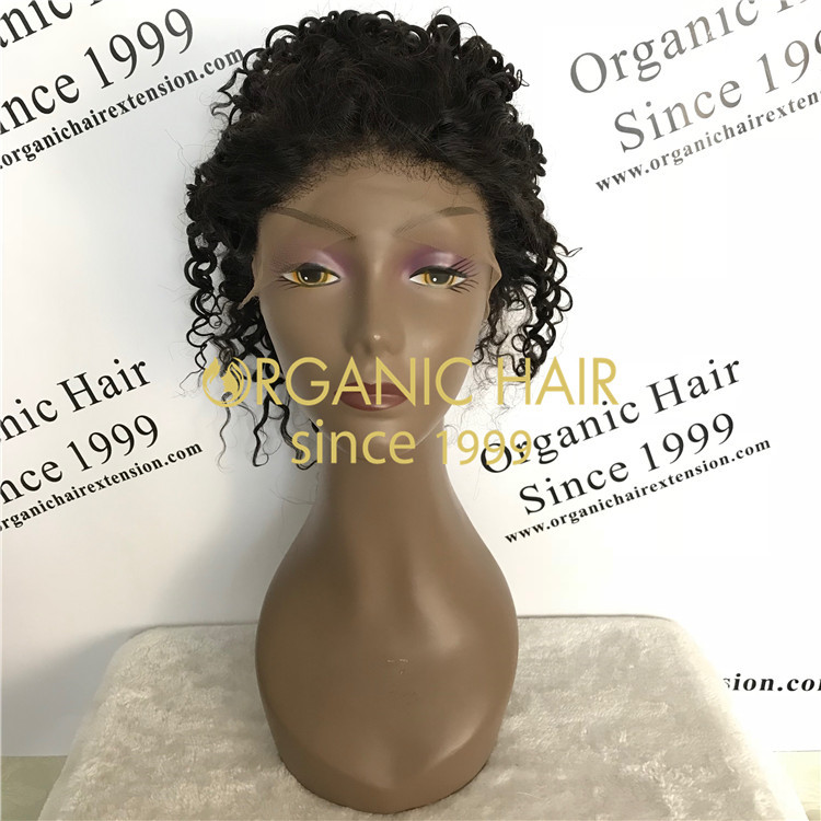 Virgin hair glueless full lace wigs,lace frontal wigs at wholesale price in Chinese factory A48