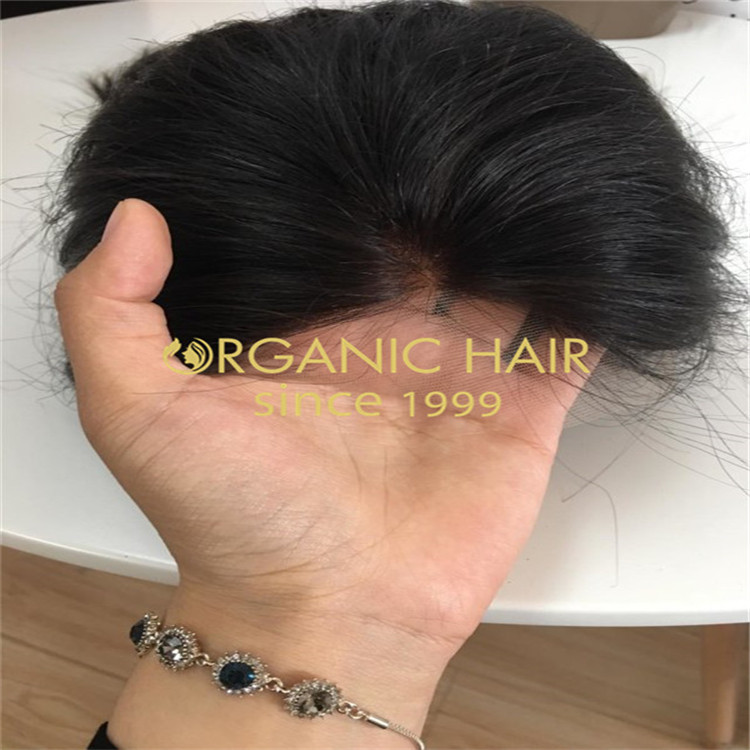 Best quality 100% human hair custom hair piece in Chinese hair wholesale factory A38