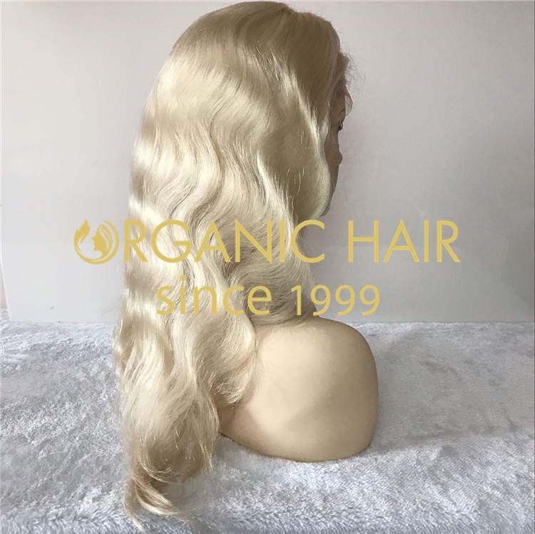 Blonde color full lace wigs body wave X206