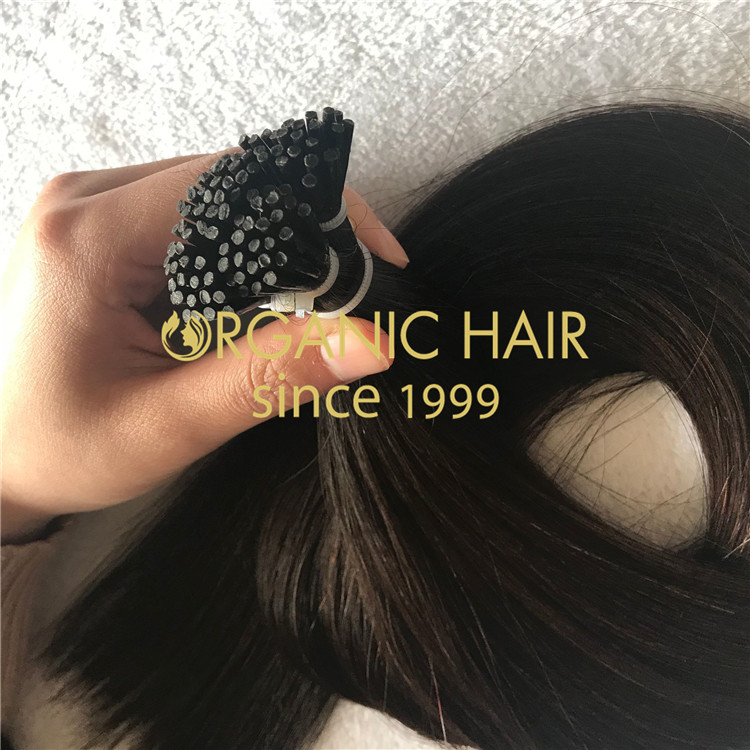 20inche #1b i tip hair extension with best cuticle hair A193