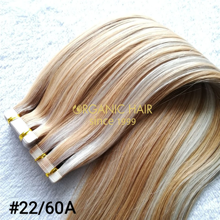 High quality double drawn tape in hair extensions  C103