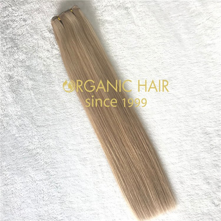 Piano color 18/22 handtied weft with full cuticle intact  C83