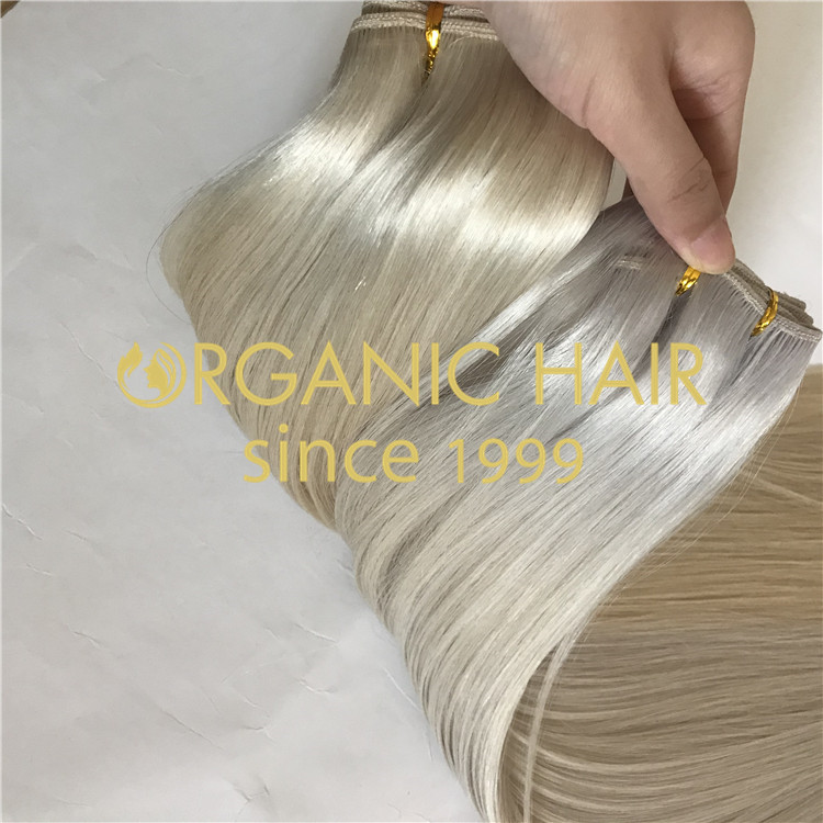 Cuticle intact weft hair extensions  H172