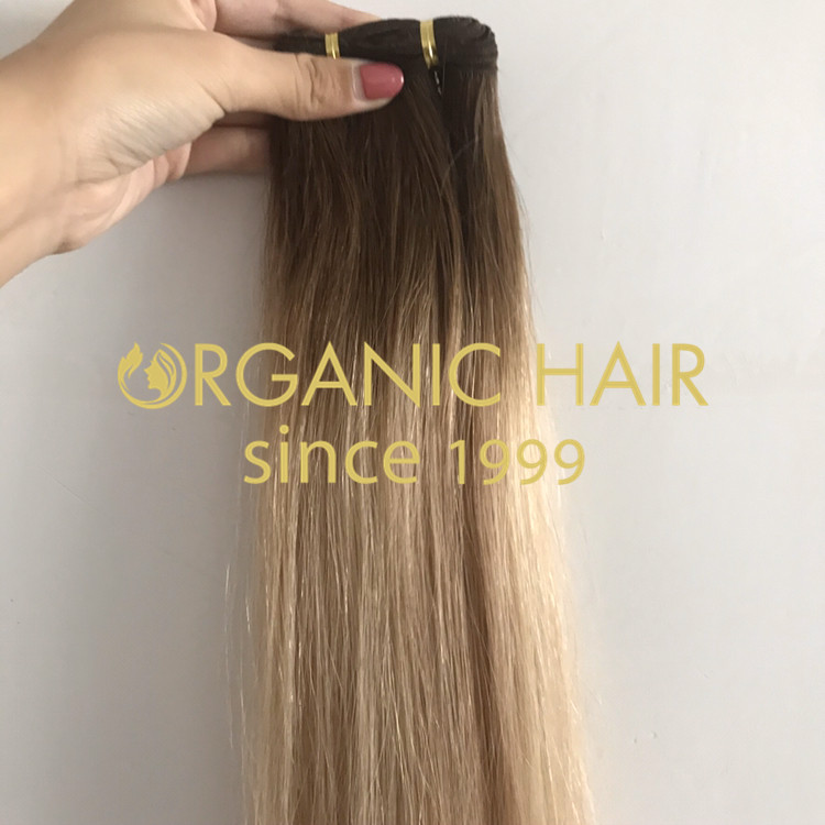 Hand tied weft hair extensions in stock H310