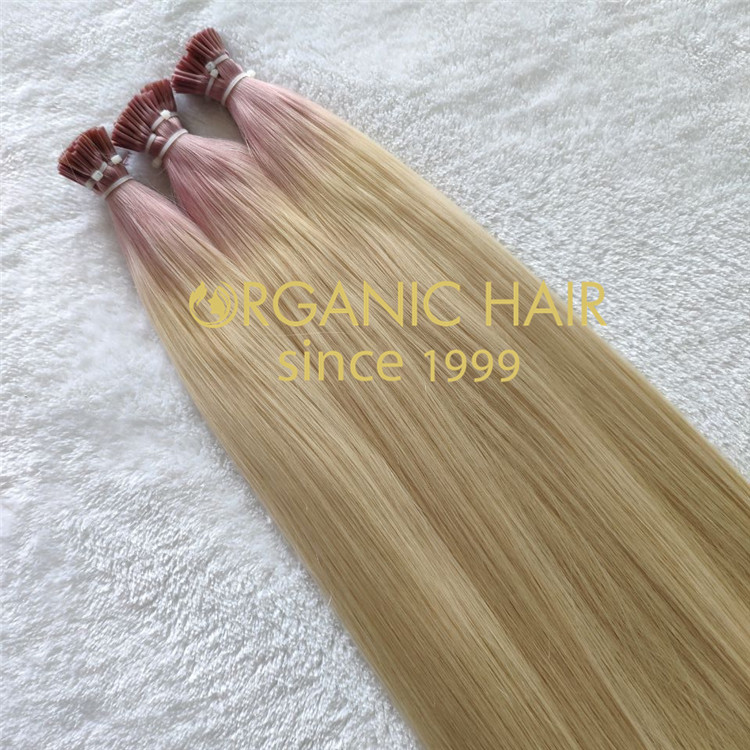 High quality I tip hair extensions ombre color and full cuticle  C106