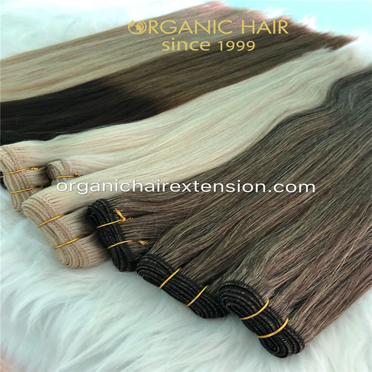 Big discount on sell hand tied weft with full cuticle intact  C102