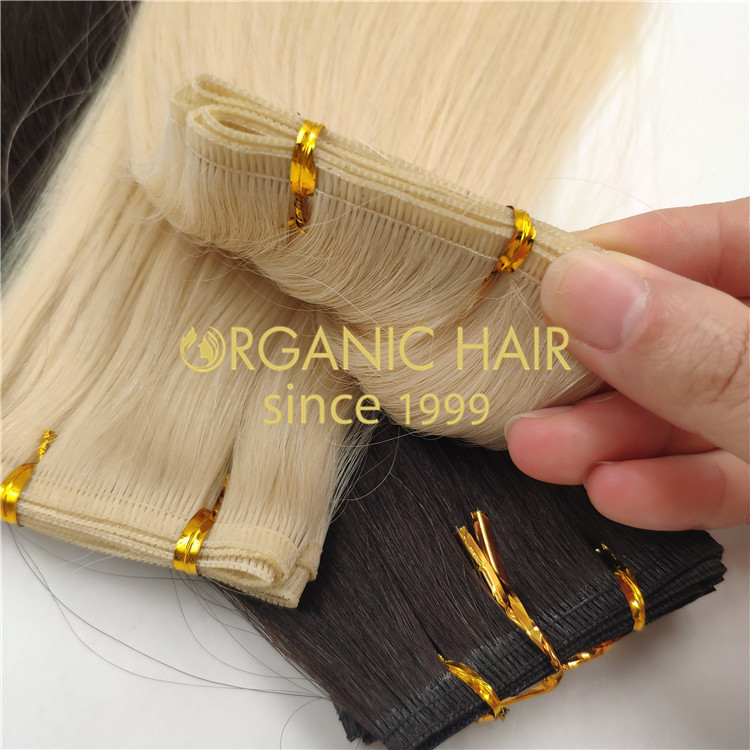 No any processed flat weft hair extensions wholesale  rb114