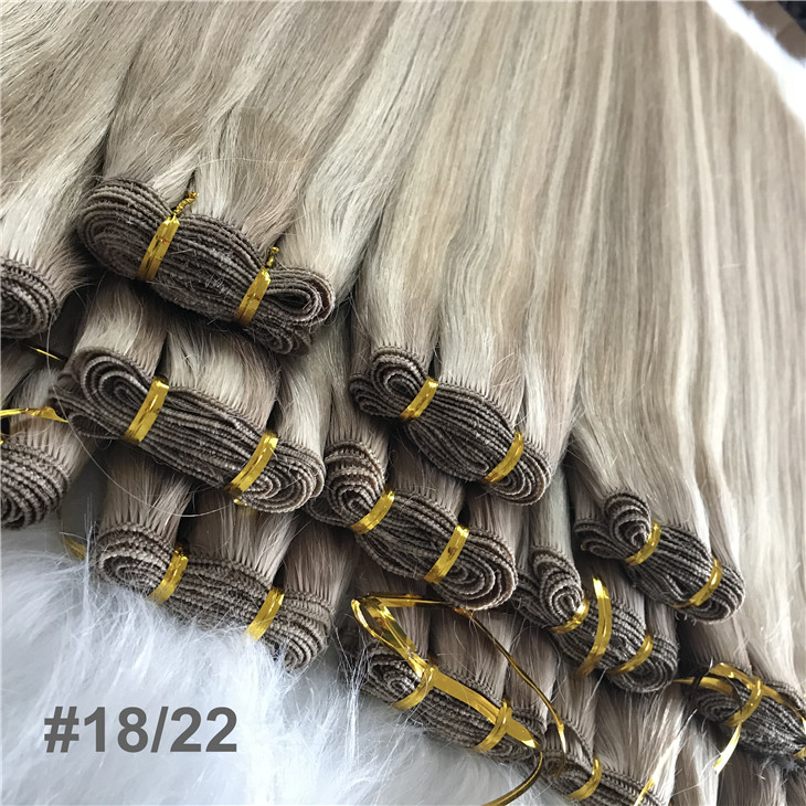 Piano color 18/22 hand tied weft with full cuticle intact   C91