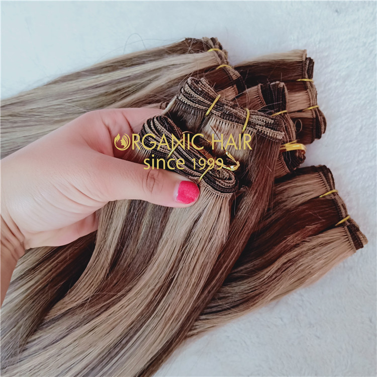 Piano color full cuticle hand tied weft  C47