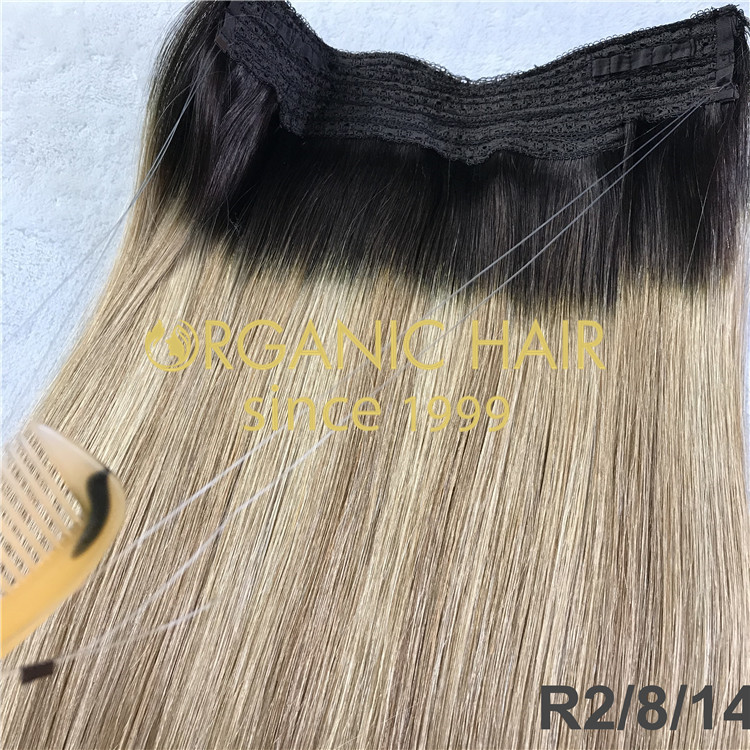 Ombre halo hair extensions H220