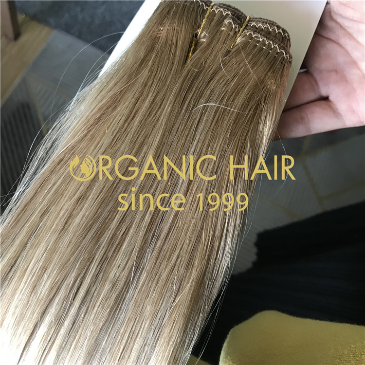 Silicone free machine tied hair wefts  H224