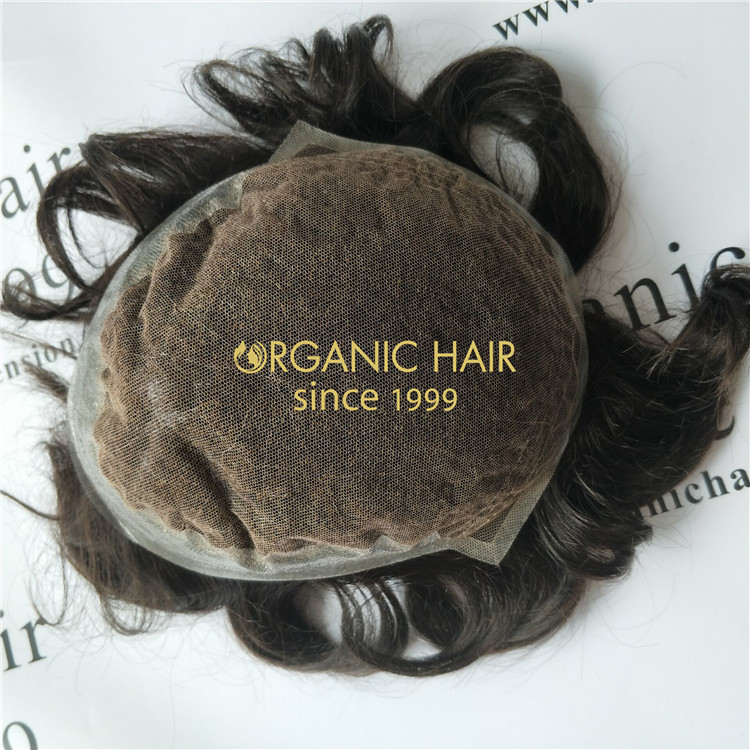 Toupee for men hair loss-Organic hair factory from China GT53