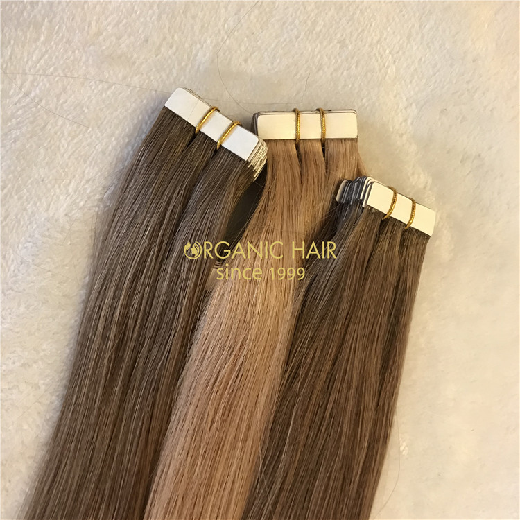 Remy tape in human hair extensions X124
