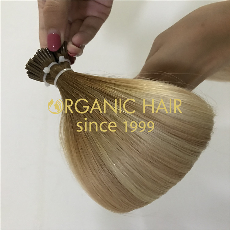 Blonde balayage I Tip Hair Extensions H307