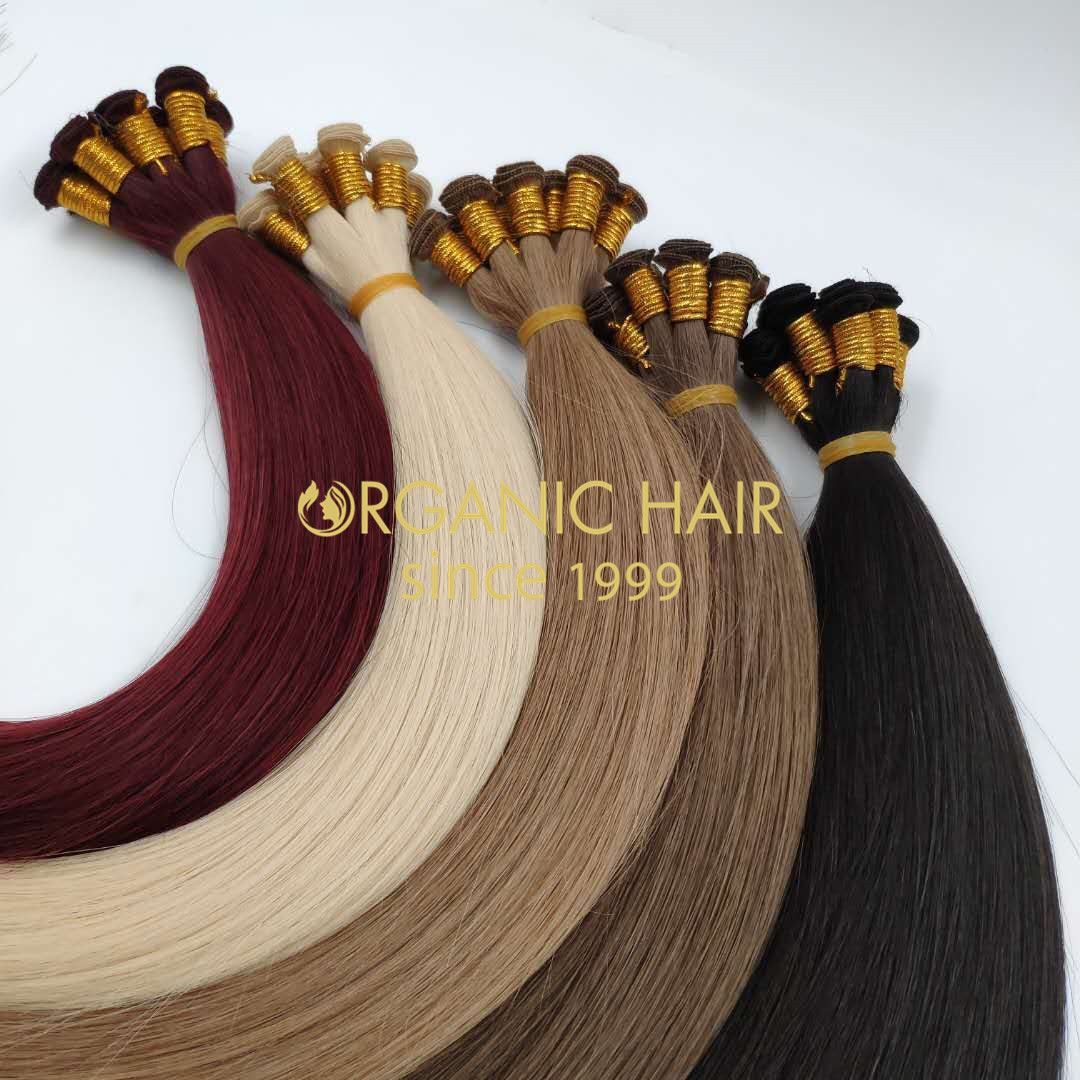 Wholesale popular color human handtied wefts good quality J08