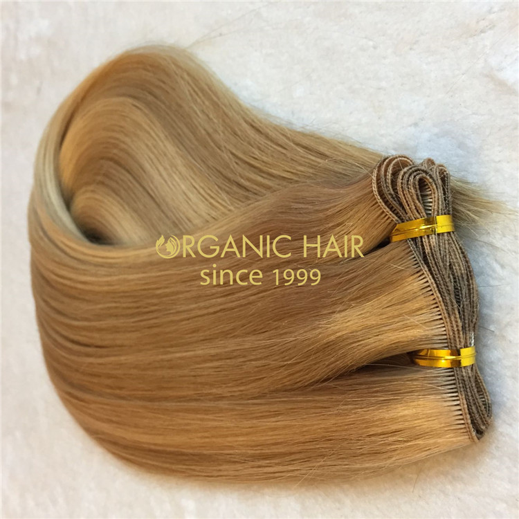 Most popular extension method--hand tied hair extensions H122