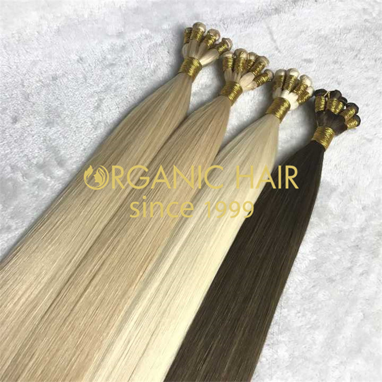 Customized hair--hand tied hair extensions H119
