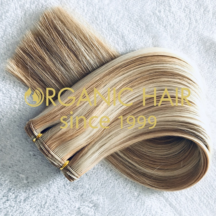 High quality full cuticle 100% human hand tied weft extension on sale I13