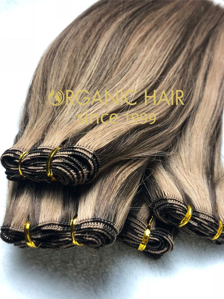 High quality piano color handtied weft with full cuticle intact  C86