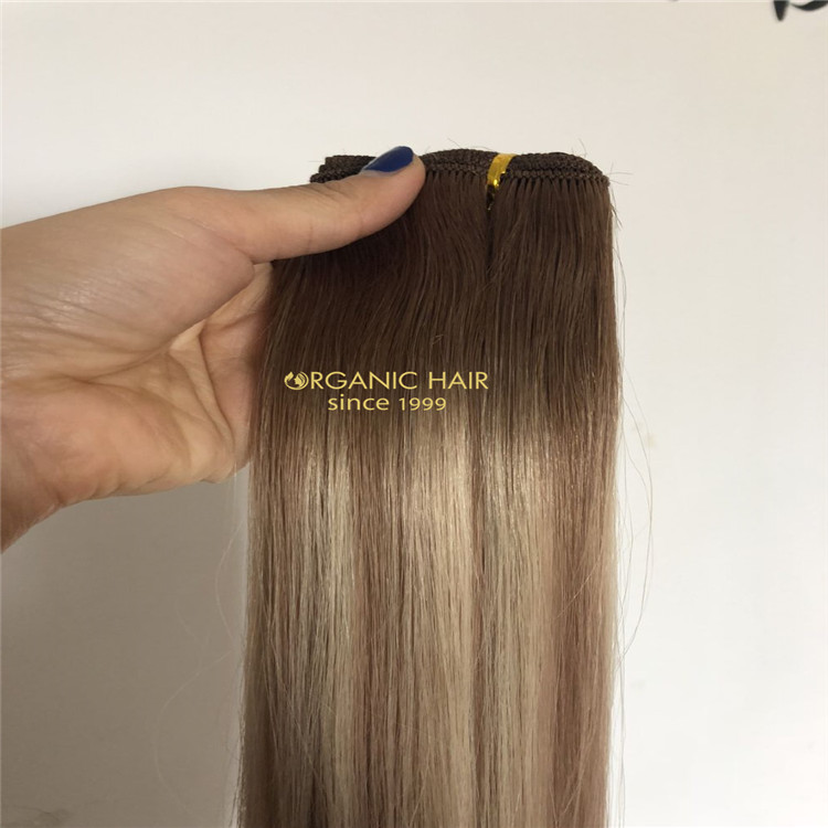 Customized best hand tied wefts from our USA client A189