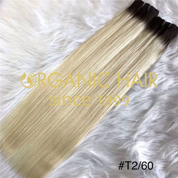 Full cuticle rooted color #2/60 hand tied weft I22