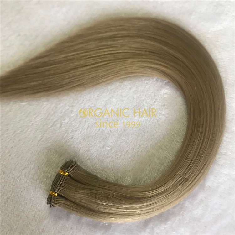 Customzied #9 best quality hand tied wefts A207