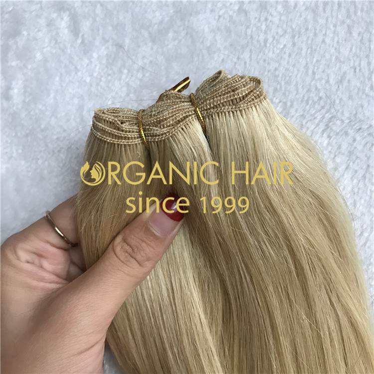 Hand tied wefts for wholesale H156