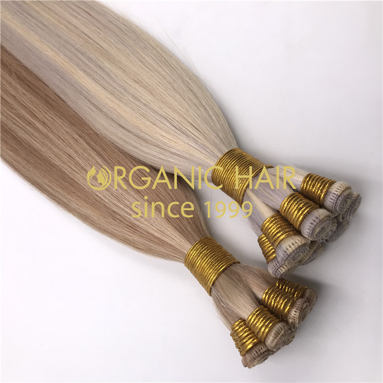 Full cuticle invisible beaded rows hair extensions supplier rb106