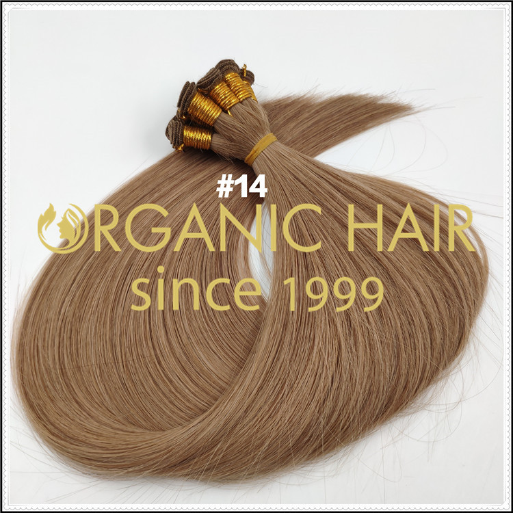 Hand-tied #14 hair extensions C080