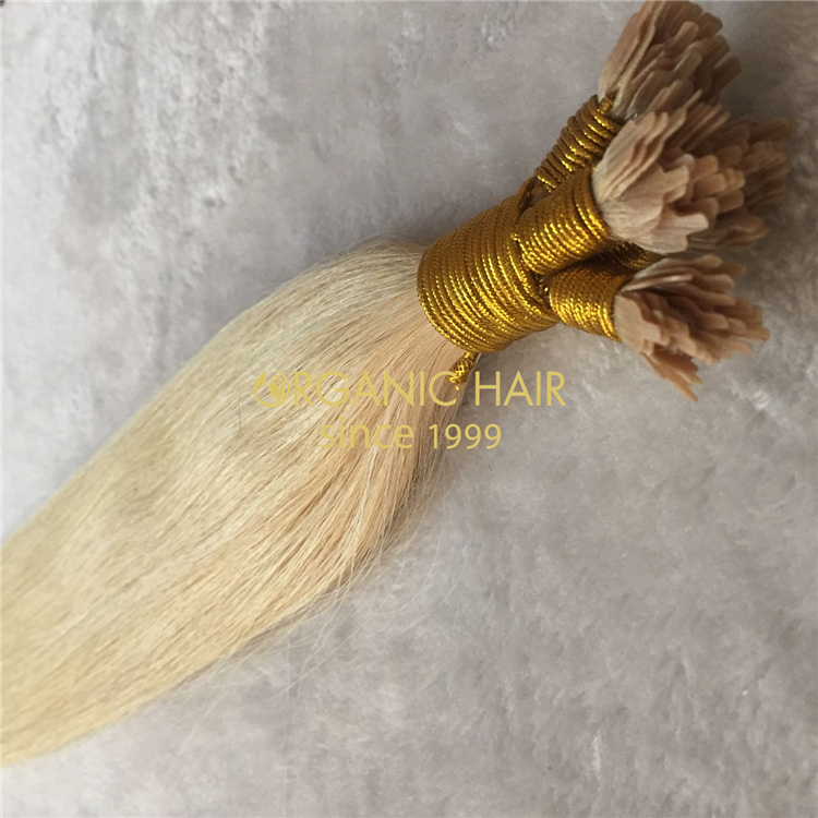 Human fan tip hair extensions with good reviews X246