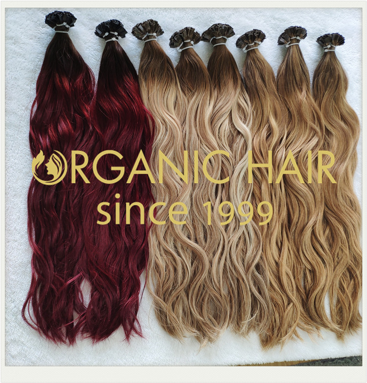 Human full cuticle hair pre bonded natural straight flat tip CNY007