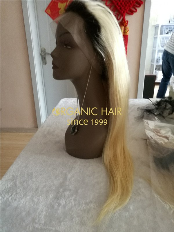 Wholesale best human full lace wigs #1B/613  X23