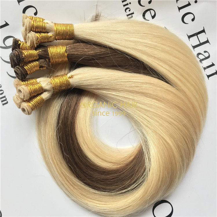 Young girl hair hand tied weft at wholesale price X33