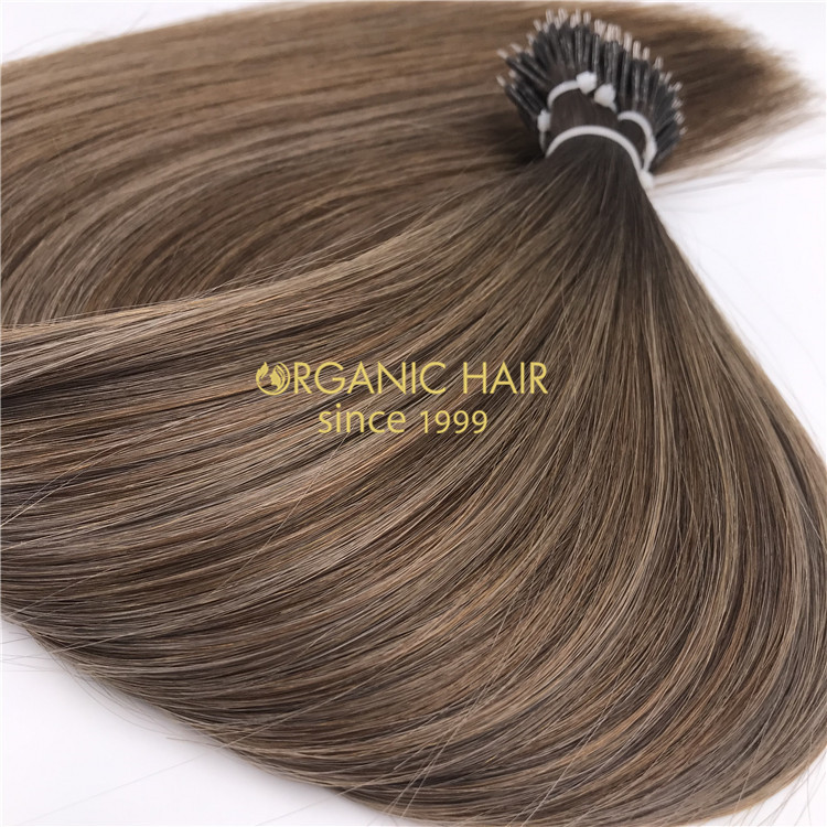 Human rooted color nano rings hair extensions and customized color X246