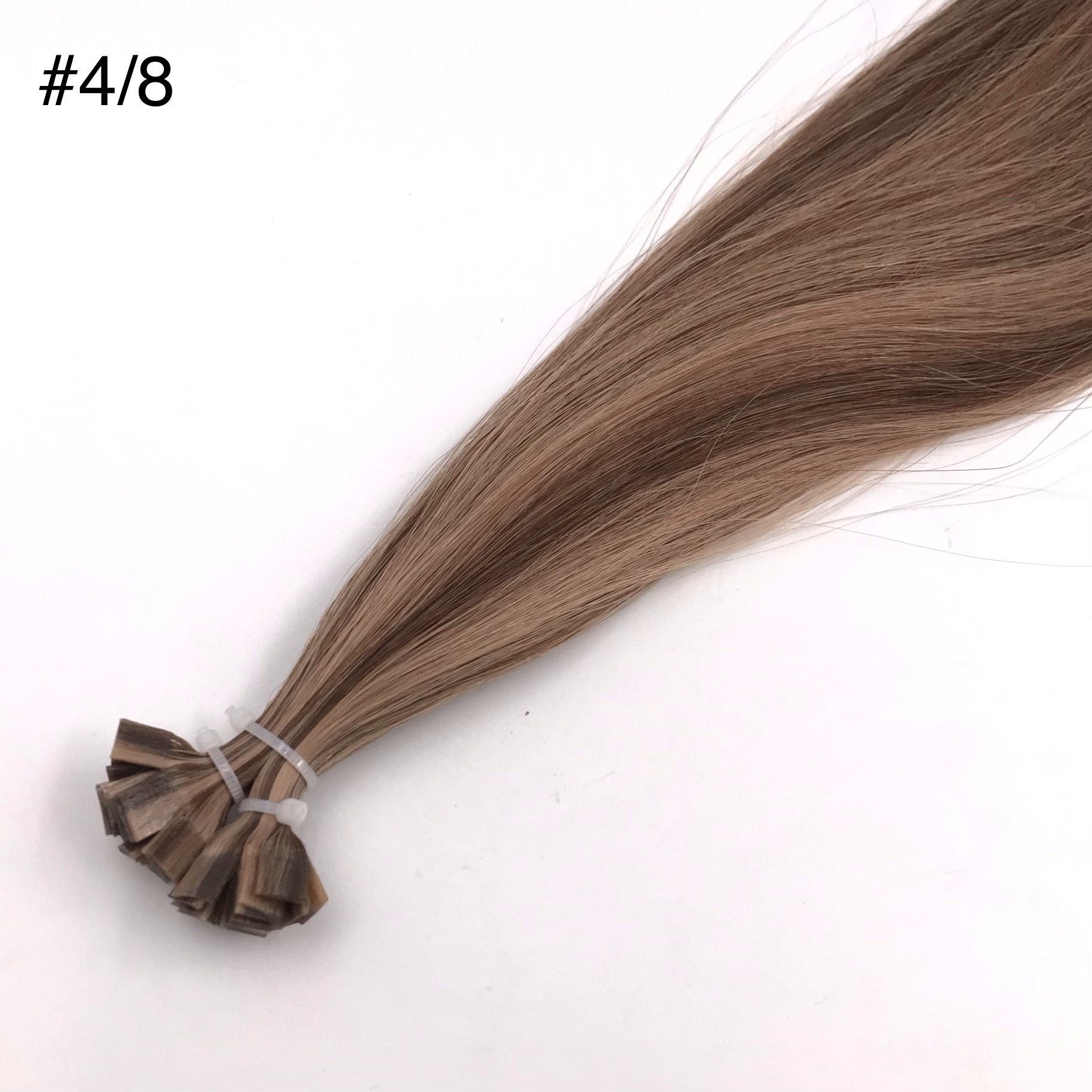 High-quality Hair Extensions Supplier Flat tip Piano color #4/8 J13
