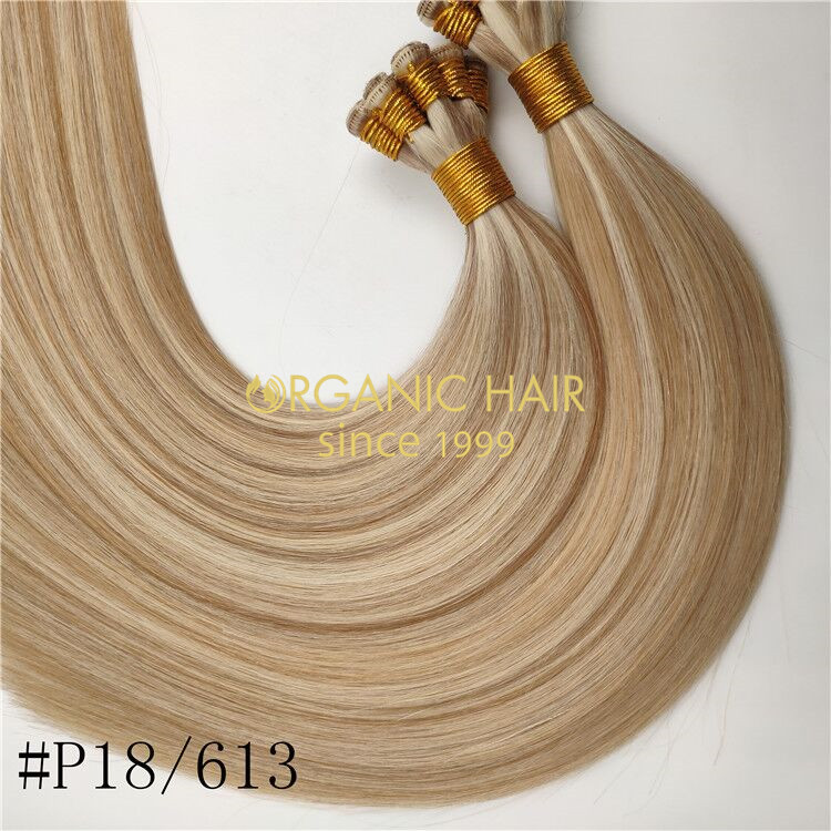 Wholesale human hand tied wefts piano color 18/613 and hot sale X336
