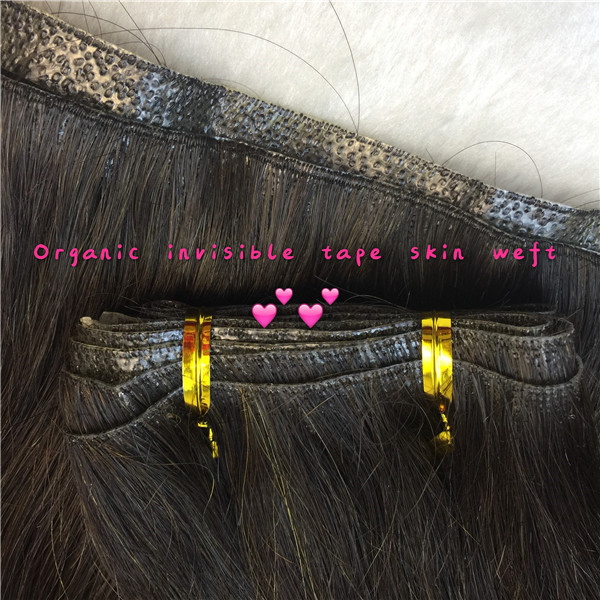 Invisible skin weft hair extensions factory